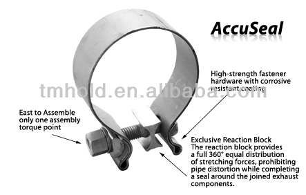 Accuseal high performance exhaust clamp
