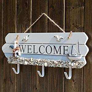 CCWY Mediterranean style 3 welcome hooks creative wall decoration welcome garment hook, hand-made old towel