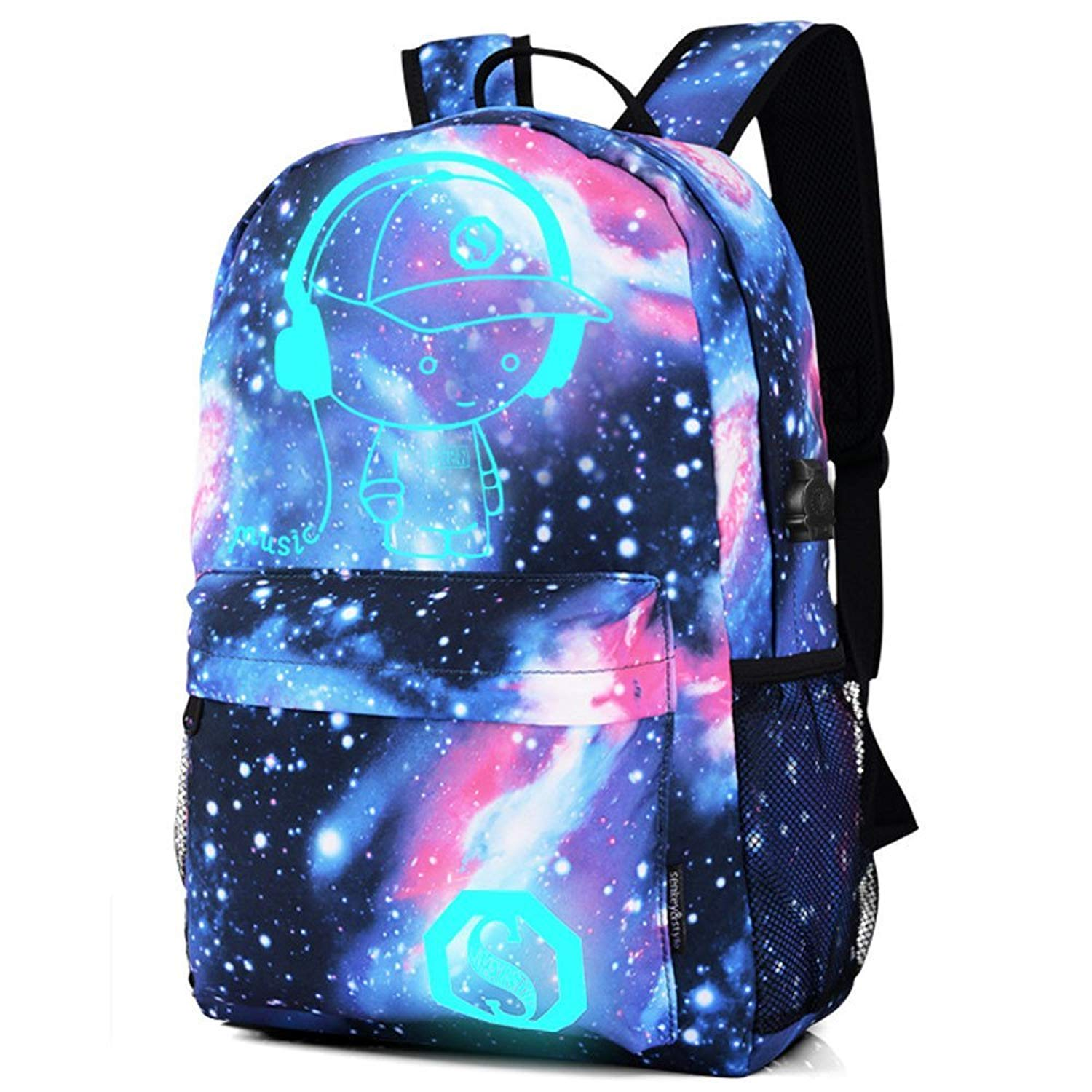 fb02ac4dda Get Quotations · Cool Backpacks For Teen Girls In Middle School Canvas  Backpacks For Teen Girls School Galaxy Under