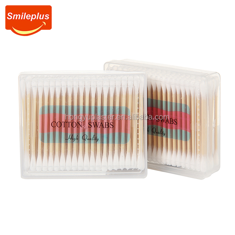 hot product Bamboo cotton swabs for wound care