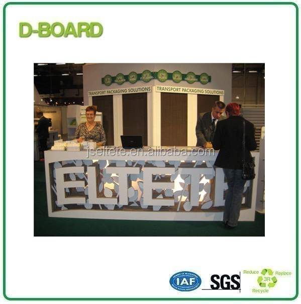 white cardboard paper for trade show display booth