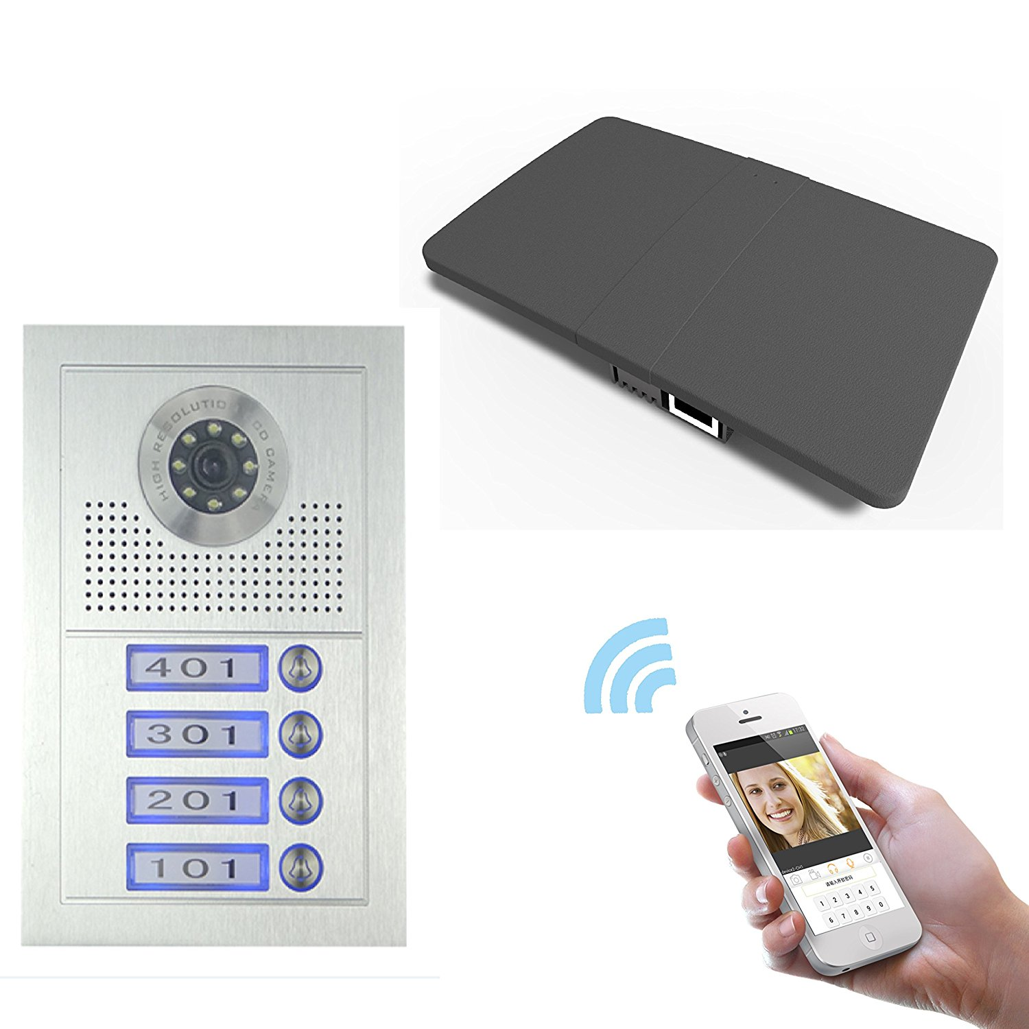 Gbf Smart Video Intercom Doorbell System For Multi Unit Apartment Building With Wifi Remote