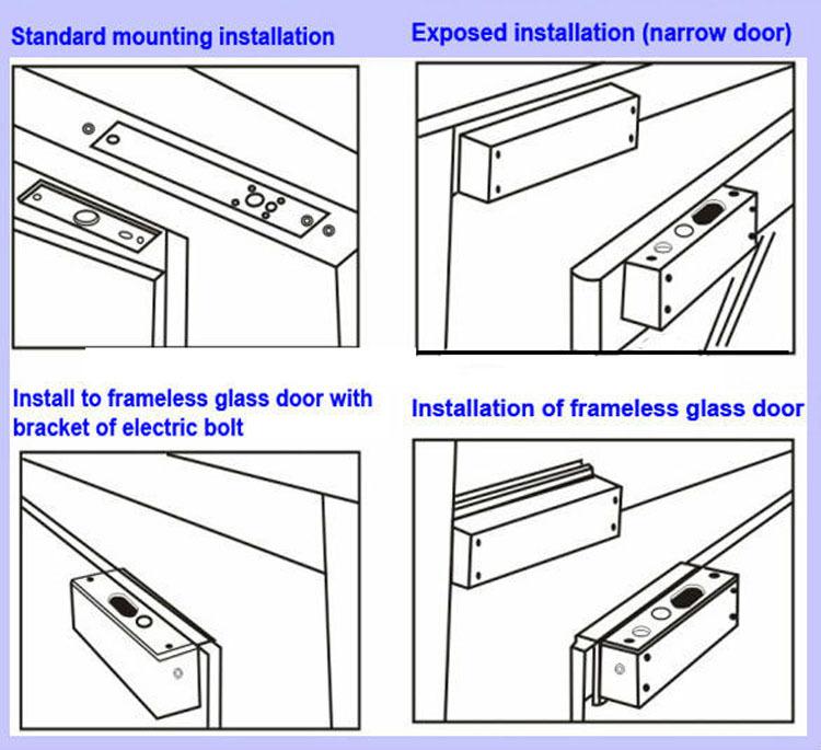 Dc12v Or Dc24v Adjust Electric Glass Door Security Magnetic Lock For
