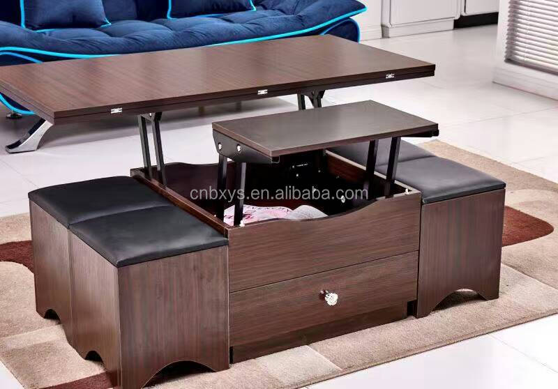 UAS popular multifunctional wooden fold tabel for living room