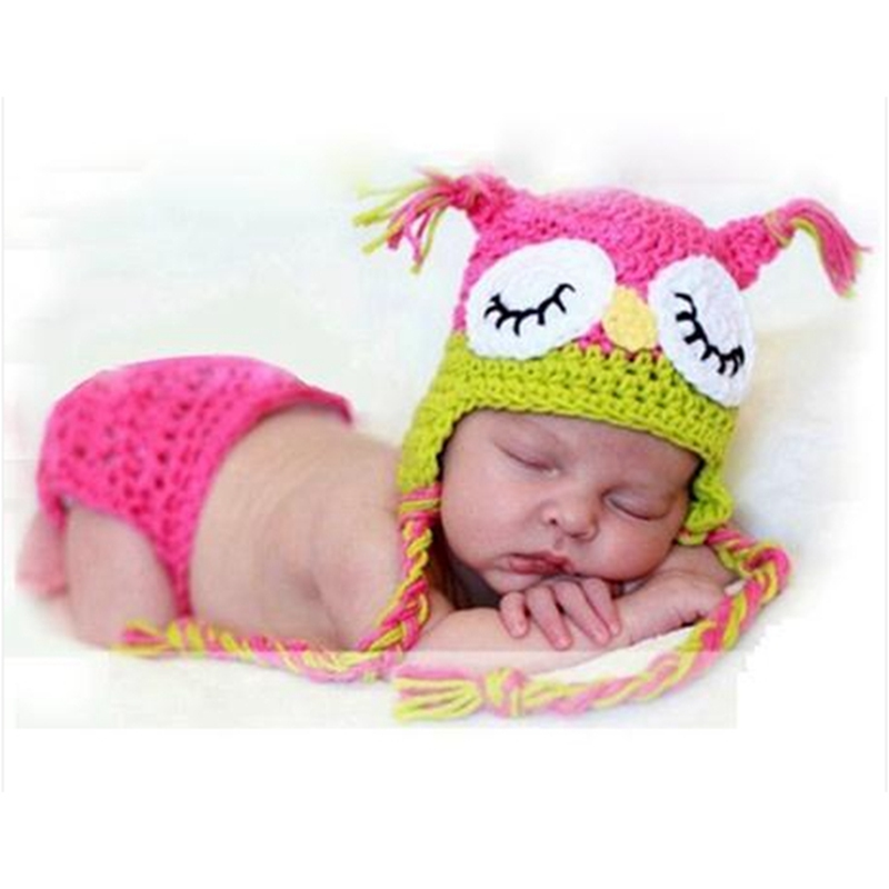 f2e1d92bd7f5e0 Crochet Owl Hat Toddler New Born Props for Photography Free Knitting  Patterns Baby Girl Hat Handmade Newborn Infant Costumes
