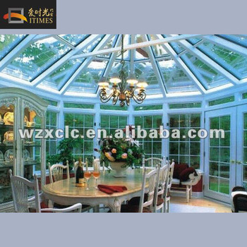 Dome roof style safety glass roof aluminum sunroom