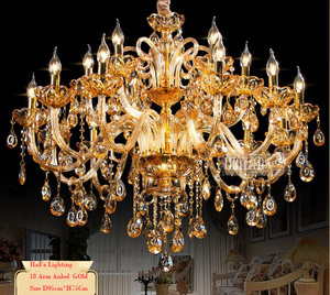 Free shipping Big Lustres Chandelier 100% K9 Crystal Luxury Large Home Decoration Amber/gold/cognic/Clear Chandelier crystal