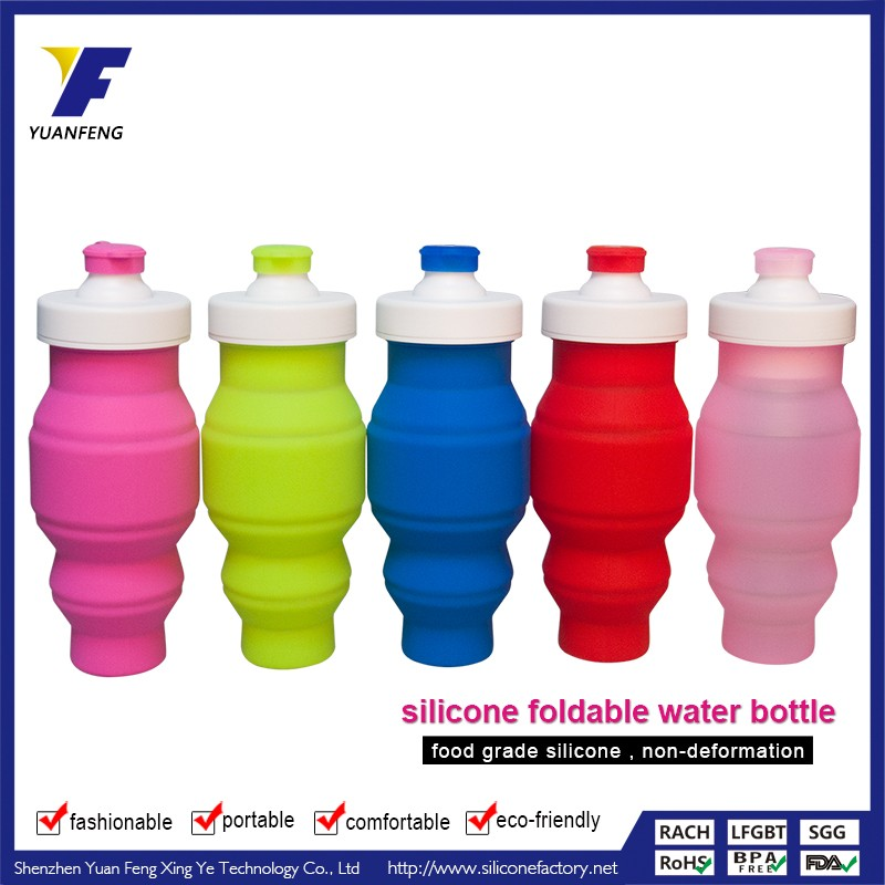 hot sale silicone foldable water bottle fda approved