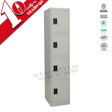 Good quality stainless steel cupboard 4 tier lockers/steel locker cabinet for clothes