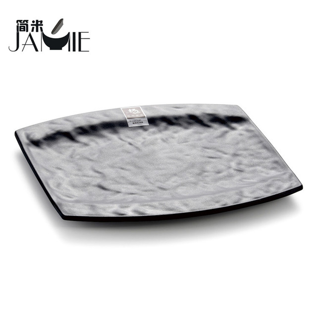 Melamine black square dinner plate black plastic plastic plates  sc 1 st  Alibaba & China Dinner Plate Plastic Wholesale ?? - Alibaba
