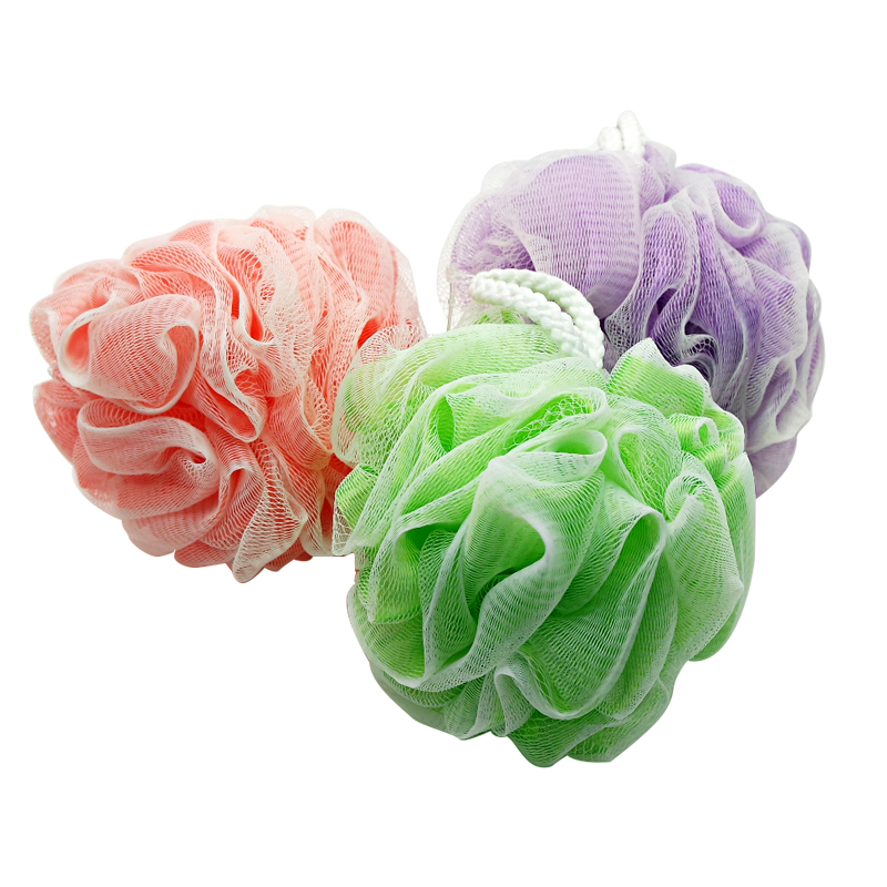 PE Mesh Body Clean Exfoliating Bath Shower Flower Sponge