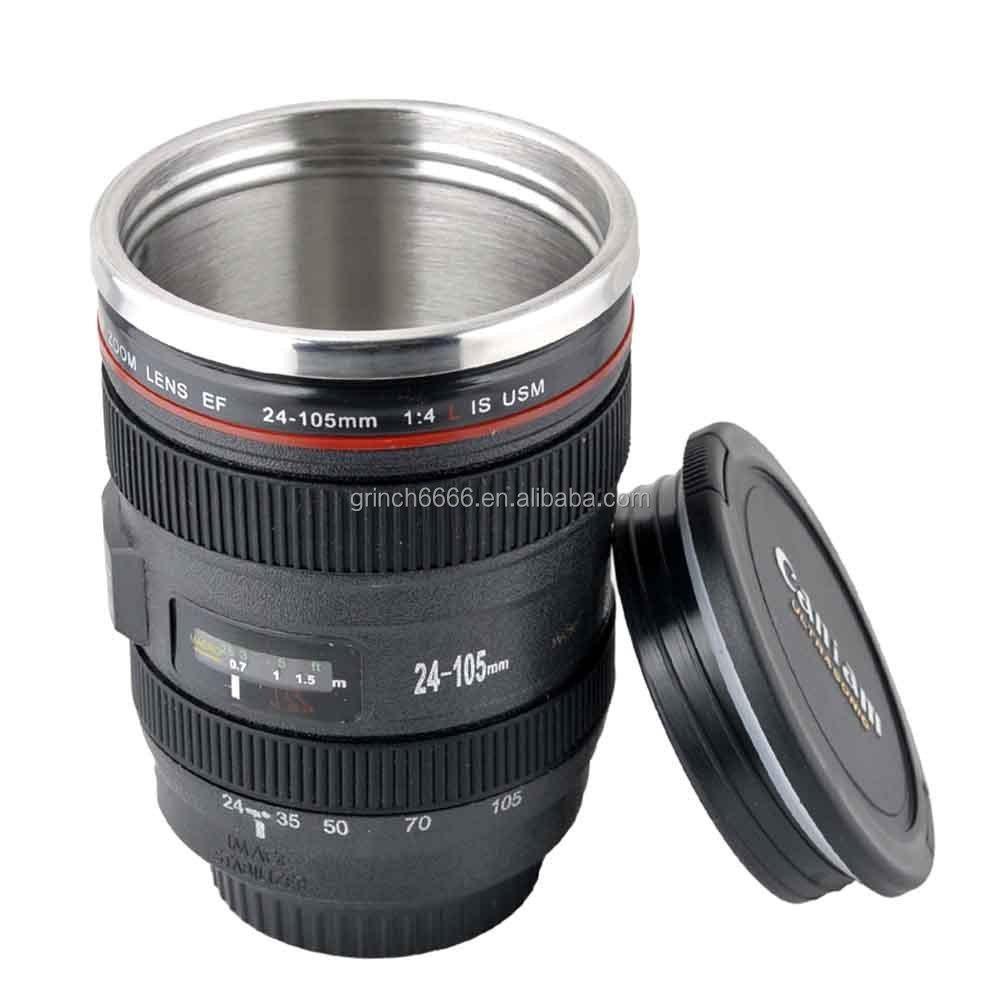 New ef 24 105mm camera lens travel coffee mug cup thermos - Travel mug stainless steel interior ...