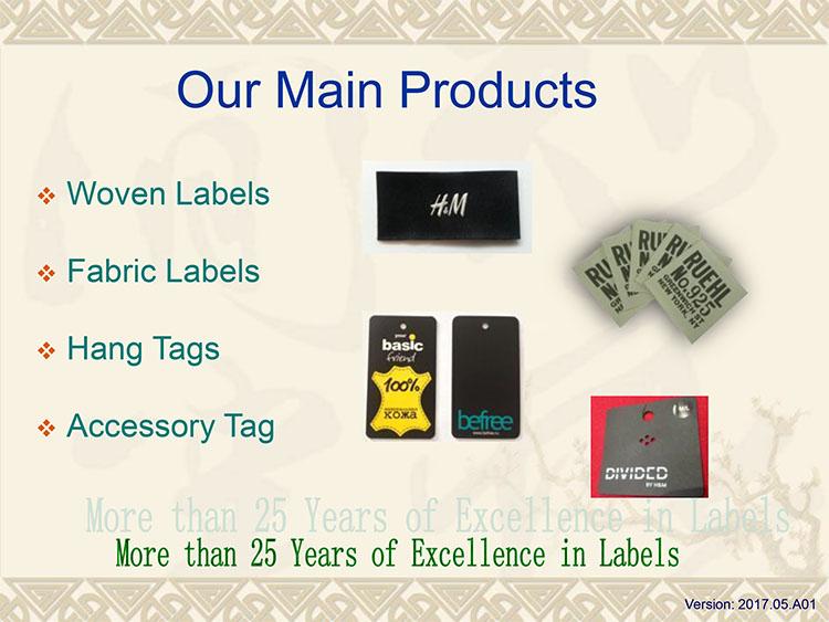 UK High Quality black Made damask garment woven label