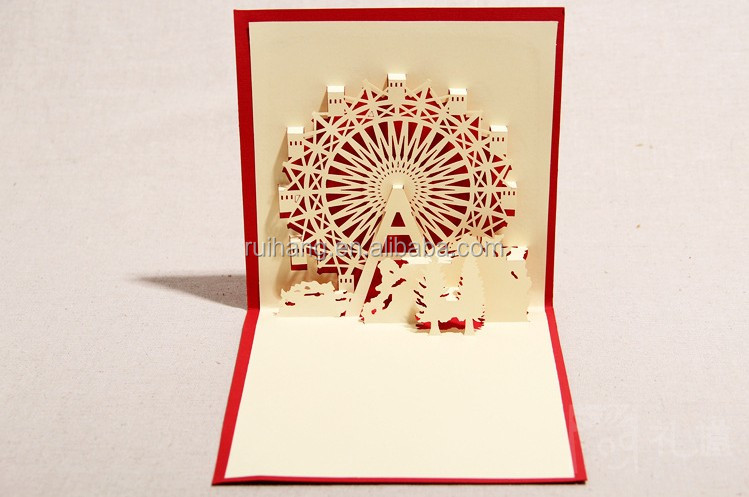 Handmade 3d pop up ferris wheel greeting card with envelope for handmade 3d pop up ferris wheel greeting card with envelope for christmas buy birthday favorshandmade greeting cardsmusical pop up christmas greeting m4hsunfo