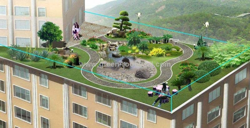 Green Roof Of Plastic Drainage Plates Buy Green Roof Of