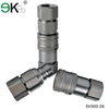 EK-FF carbon steel,brass,stainless steel flat face hydraulic quick coupling hose connectors