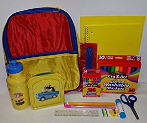 Backpack, School Supplies and Despicable Me Minions Lunch kit - 17 Piece Bundle for Boys and Girls