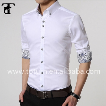 Latest White Formal Shirt Designs For Men Antiwrinkling Unique ...