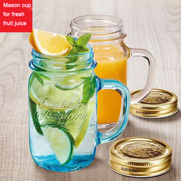 vruchtensap mason jar glas cup met handvat glas product id. Black Bedroom Furniture Sets. Home Design Ideas