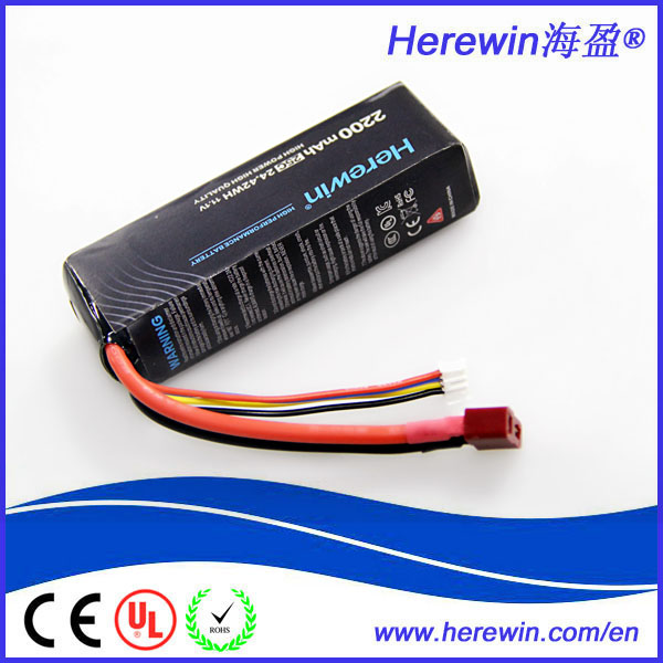 2200mah 11.1V 3S 25C strong burst lithium iron phosphate li ion battery pack