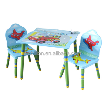 Fashion Design Wooden kids study table and chairs School furniture