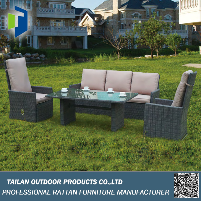 Sofa set furniture for garden, rattan sofa set for sale