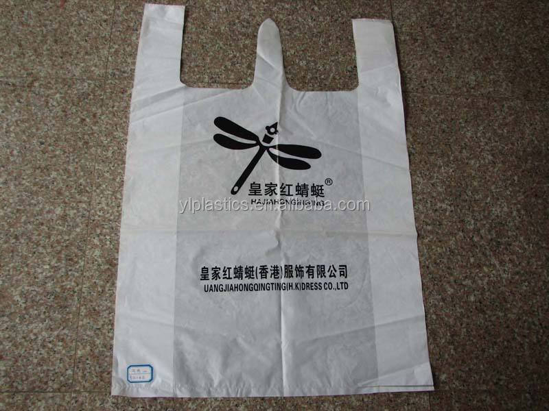HDPE Packaging Cheaper Custom Printed Logo Plastic T Shirt Bags