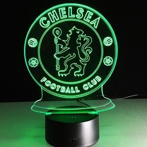 Popular product night stand light led,christmas gifts for football fans 3D lights,Chelsea football club 3D night light