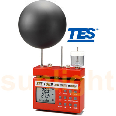 TES-1369B Heat Stress Monitor with RS232 Datalogger