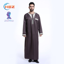 Zakiyyah TH802-M21 Dubai Latest Kurta Collar Designs Coat Abaya for Men