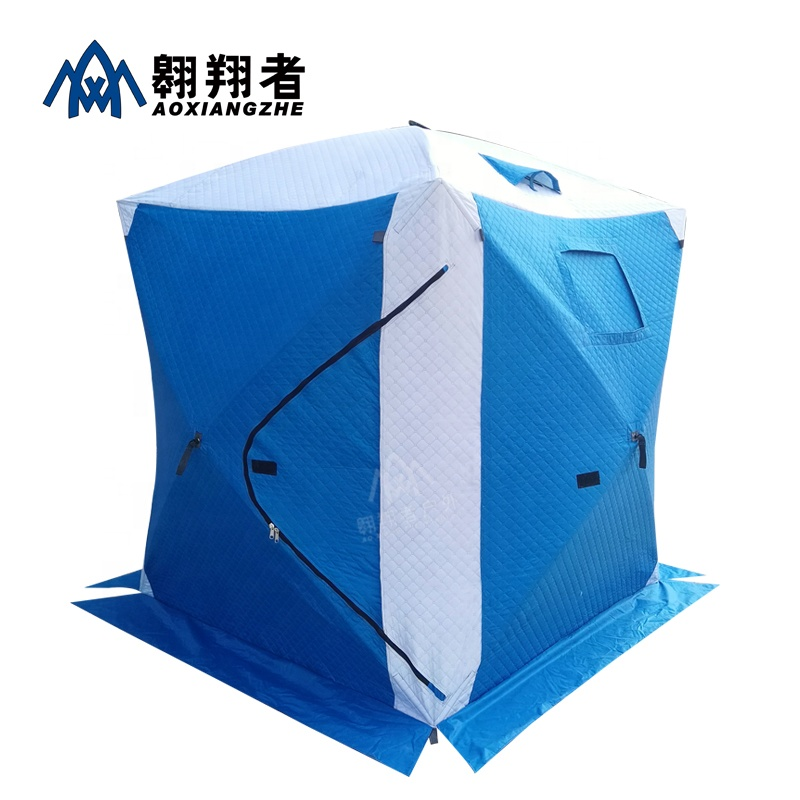 Hot sale 2 person Polyester Cotton Camping pop up quick open ice cube winter fishing <strong>tent</strong>
