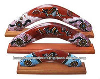 Australian decorative boomerang handmade from Vietnam lacquer, with stand design