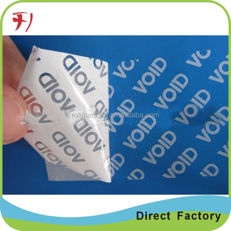 Customized Box Seal Tamper Proof Anti-Counterfeit Red VOID Sticker