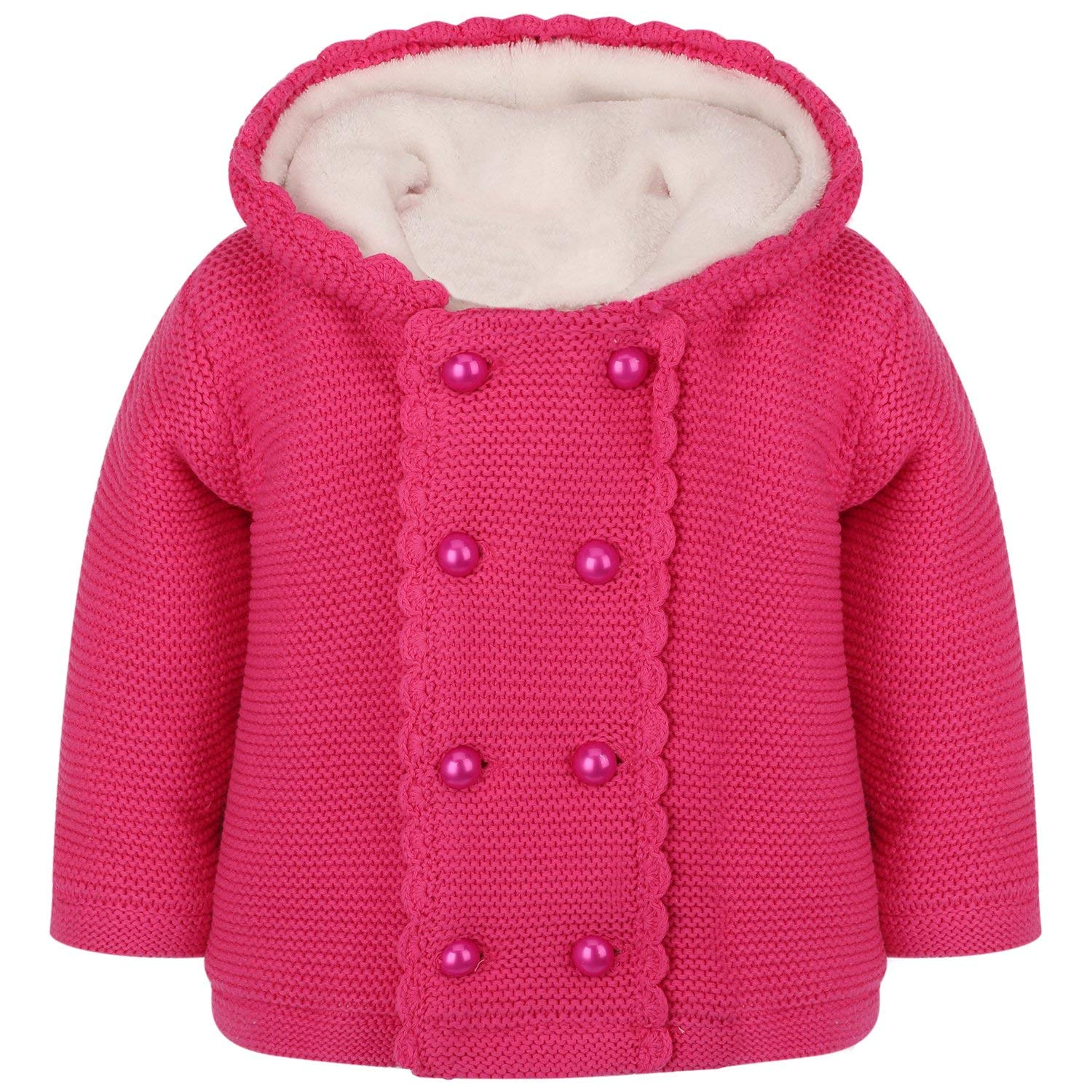 Stesti Trench Coats for Kids Girls Pink Jackets Winter Coat for Baby Girl