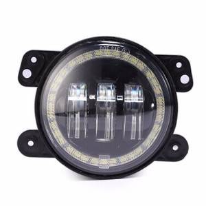 "4"" osram led DRL fog light halo angel eyes 4 inch round fog light for jeep"