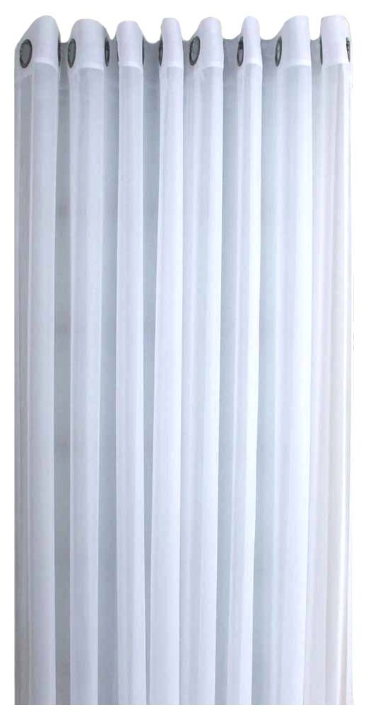 Ricardo Oyster Bay Sheer Voile Grommet Patio Panel With Attachable Wand, 110 X 84, White