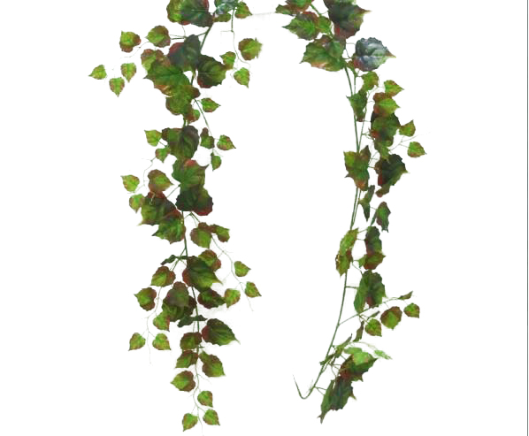 Factory price of <strong>artificial</strong> hanging vines ,<strong>artificial</strong> plastic <strong>green</strong> ivy <strong>leaf</strong> for decoration