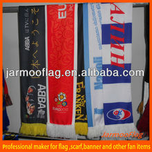 custom logo printing polyester knitted sports scarf