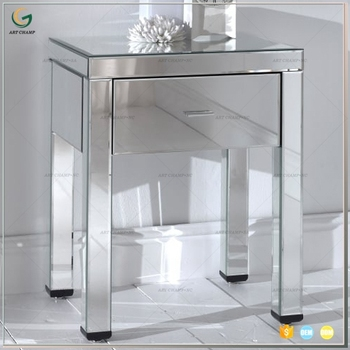 Merveilleux Venetian Mirror Glass 1 Drawer Mirrored Bedside Night Table Bedroom  Furniture   Buy Night Stand,Mirror Sideboard,Antique Bedside Tables Product  On ...