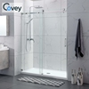 Single sliding door wet room stainless steel sliding glass door new design free standing glass frameless shower enclosures