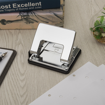 Luxury Reflective Office Stationery Metal Standard Paper Punch