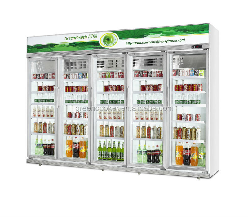 Large Commercial Refrigerator Showcase 5 Glass Door Buy Commercial