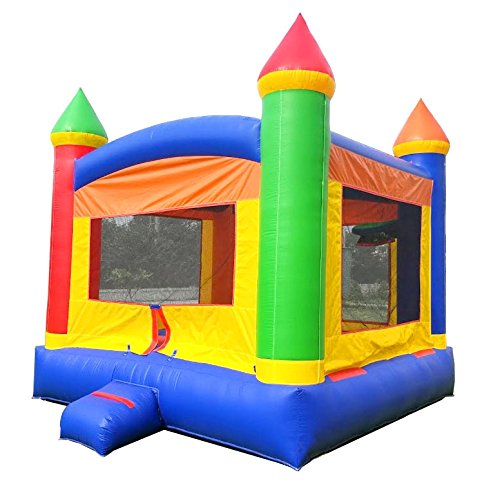TentandTable Inflatable Bounce House, 13-Foot by 13-Foot Bounce Area, Crossover Rainbow Castle Complete with Included Blower, Stakes, Repair Kit, and Storage Bag