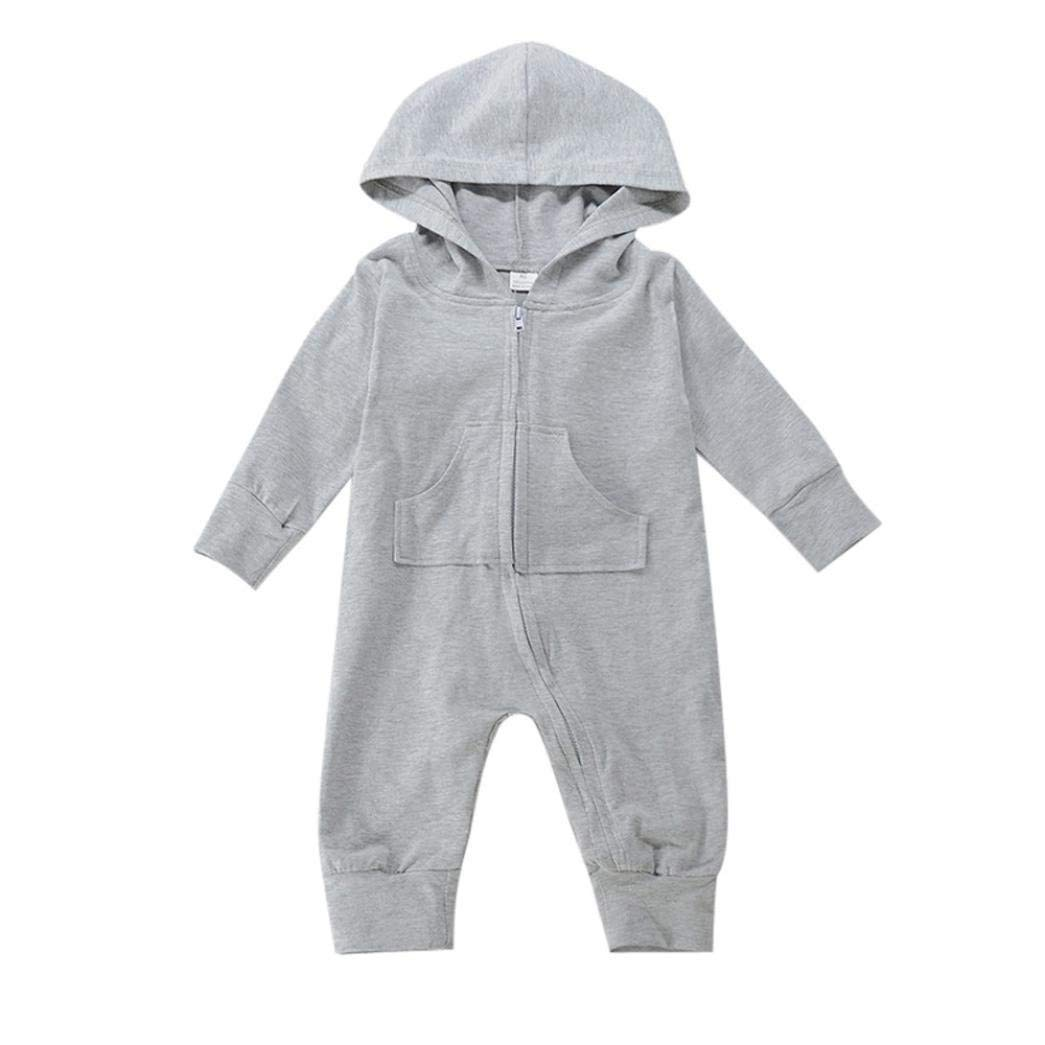 eba5228e4 Get Quotations · KaiCran Baby Boy Gilrs Sleepers Cute Rompers Toddler Baby  Boys Long Sleeve Bunny Print Zipper Hooded
