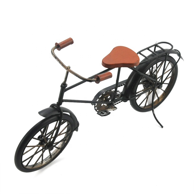 Metal Crafts Old Bicycle Decoration Home Retro Vintage Old Bike Model Antique Bicycle Club Ornament