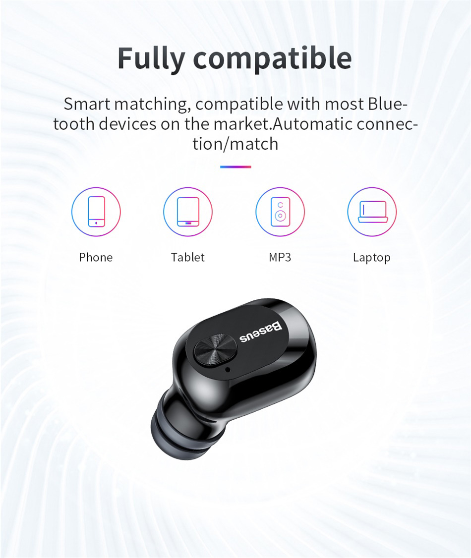 Baseus New Arrival Encok A03 Unilatera Mini Wireless Invisible Earphone & Headphone For Bluetooth Earphone