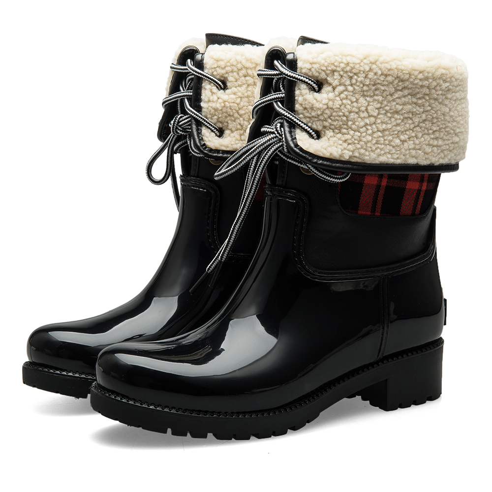 Fashion flat heel winter boots 2016 snow walking shoes