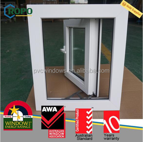 Double glazed open inside french casement window, upvc hurricane window