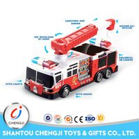 Best gift electric vehicle toy 4 channel remote control fire truck