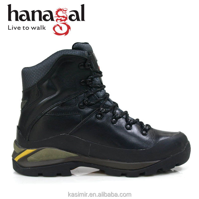 hiking mountain leather grain full China boots Black boots wateproof qXfT6fx